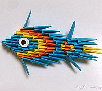 小鱼折纸之三角插鱼简单教程