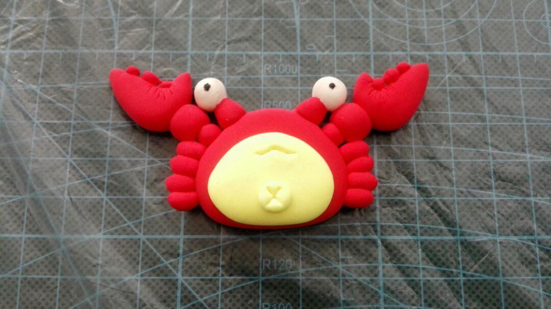 可爱的小螃蟹粘土手工教程