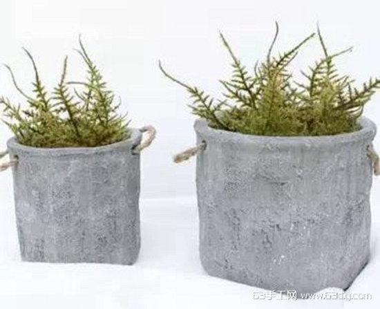 几个水泥混凝土DIY个性花盆的创意diy