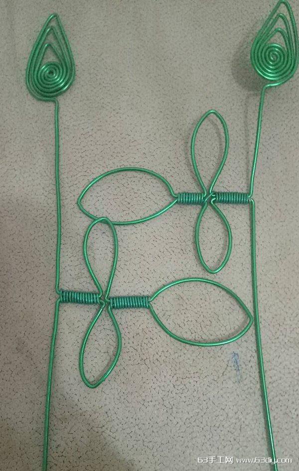 用铝线手工制作玫瑰花图解步骤_63手工网