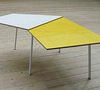 可折叠桌子 如同折纸一样简单