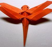 蜻蜓折法图解 立体纸蜻蜓折纸