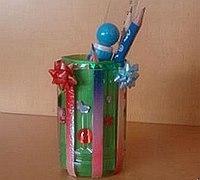 用饮料瓶变废为宝制作一个漂亮的笔筒