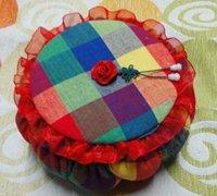 用废旧光盘制作精美的布艺南瓜泡芙置物篮