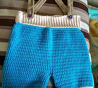 钩针编织宝宝背带裤教程
