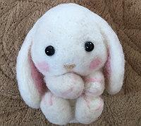 羊毛毡小动物制作之可爱的小免子