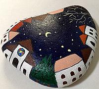 鹅卵石彩绘教程之仰望星空