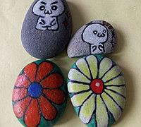简单彩绘石头画的方法