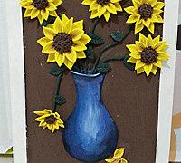 用超轻粘土做太阳花装饰画教程
