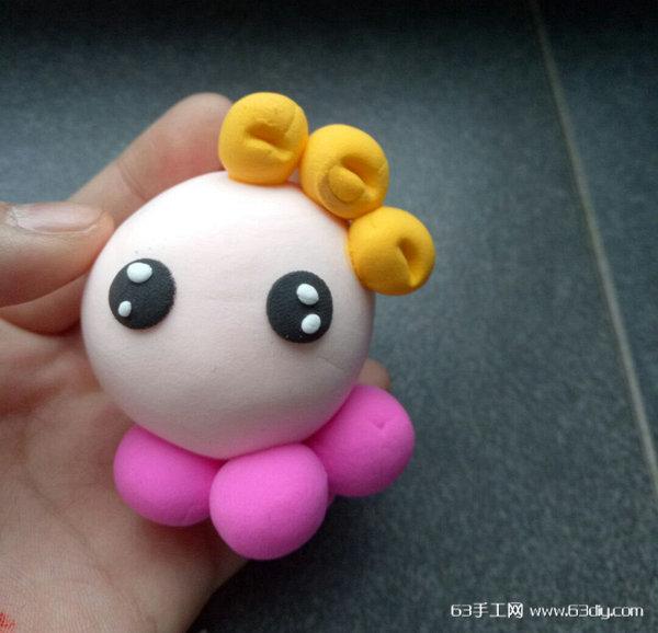 用超轻粘土制作一只可爱的小章鱼