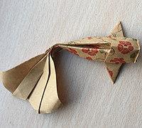 立体金鱼的折纸方法