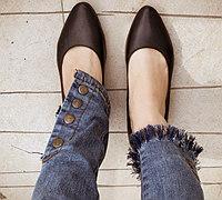 旧牛仔裤改造 过时长裤变身流苏九分裤