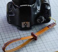 简洁方便的植鞣革相机腕带diy教程