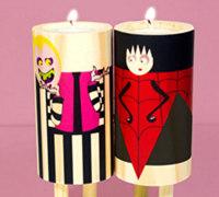 浪漫主义色彩的创意情侣小蜡烛