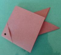 小金鱼的折纸方法 金鱼折纸教程