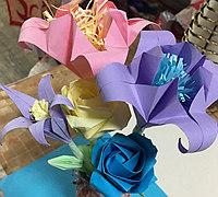 手工折纸之百合花折法图解