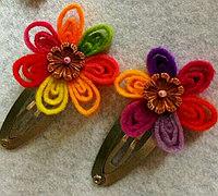 不织布布头制作漂亮的小头花