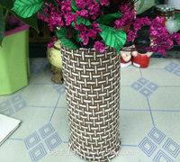 废旧大纸桶变废为宝diy创意花瓶