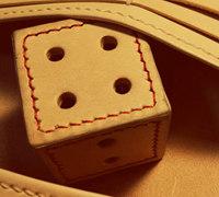 骰子挂饰 皮革骰子的制作方法
