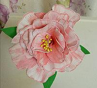 EVA板材制作逼真的牡丹花