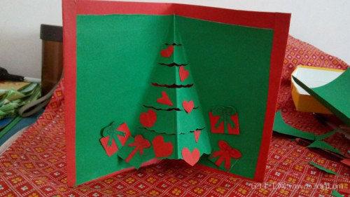 创意手工生日卡片_自制圣诞节贺卡 手工圣诞节贺卡做法_63手工网