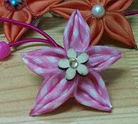 五角星形状的丝带花发饰diy教程