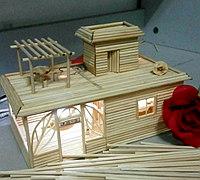 竹签diy小房子制作过程