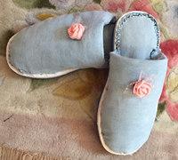 牛仔裤变废为宝制作棉拖鞋教程