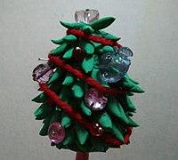 圣诞树的做法 软陶圣诞树diy教程