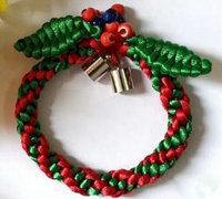 圣诞手链编绳手工教程图解
