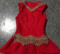 两岁女宝宝穿的呢子裙手工裁剪教程