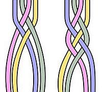 各种扁平多股辫的编法图解