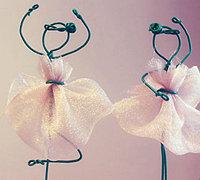 电线和蕾丝diy芭蕾舞女孩