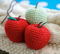 毛线勾大苹果教程 毛线苹果钩织方法图解