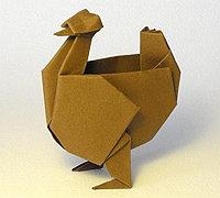 母鸡的折法 手工折纸母鸡图解