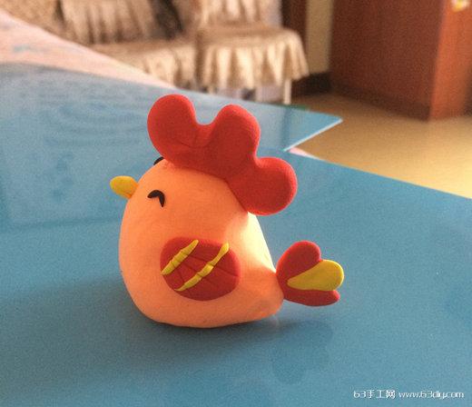 粘土制作可爱动物 粘土小鸡教程图解_63手工网