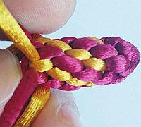 八线玉米结的编法图解