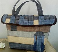 房子形状的个性布艺手工包包制作教程