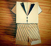 可爱的折纸小衣服4-折纸西装的折法