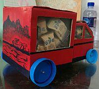 废旧纸盒手工制作小汽车教程