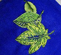 基础版叶子刺绣手工教程
