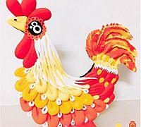 鸡年用粘土做一只漂亮的大公鸡摆件