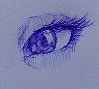 圆珠笔画眼睛的方法 眼睛手绘教程