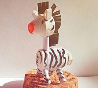 衍纸制作一只可爱的小斑马