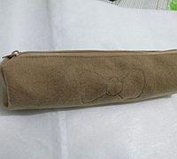 呢绒布料制作笔袋简单教程