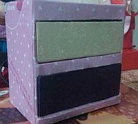 旧纸盒制作抽屉式收纳盒