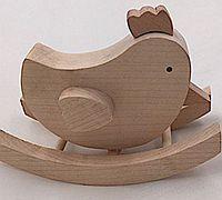 用木头做个萌萌的小鸡摇马摆件