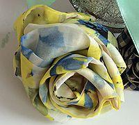 纱纺玫瑰花简单制作方法