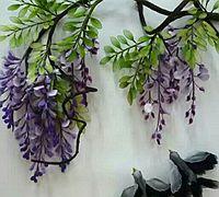 紫藤花丝网花制作方法 紫藤花的做法