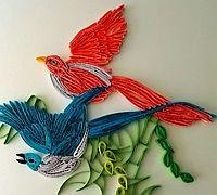 凤求凰衍纸画制作教程 练习衍纸梳的用法